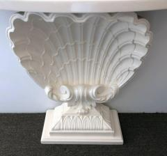 Grosfeld House Pair of Mid Century Shell For Console Table - 784167