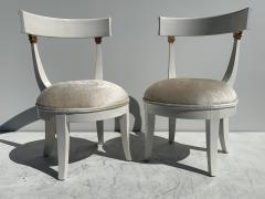 Grosfeld House Pair of Slipper Vanity Chairs - 1133505