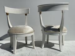 Grosfeld House Pair of Slipper Vanity Chairs - 1133506