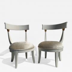 Grosfeld House Pair of Slipper Vanity Chairs - 1133757