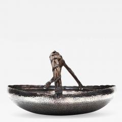 GuMeiTang A Japanese Hammered Silver Basket Tray - 942277