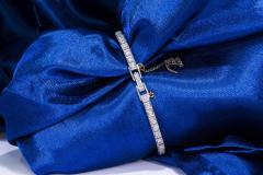 Gubelin 1920s Art Deco Platinum Diamond Set Gubelin Marquis Floral Motif Bracelet Watch - 1142805