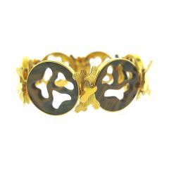 Gubelin Gubelin Carved Tiger s Eye Gold Bracelet - 188294