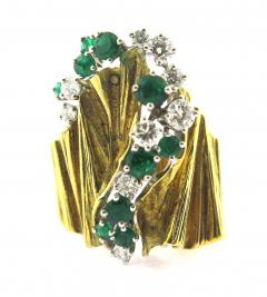 Gubelin Gubelin Emerald and Diamond Gold Ring - 161646