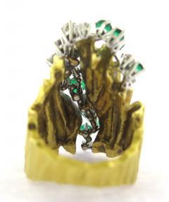 Gubelin Gubelin Emerald and Diamond Gold Ring - 161648