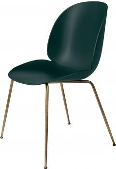 Gubi GamFratesi Beetle Dining Chair with Antique Brass Conic Base - 1752812