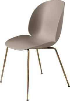 Gubi GamFratesi Beetle Dining Chair with Antique Brass Conic Base - 1752815