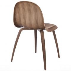 Gubi Gubi 3D Dining Chair in American Walnut by Komplot Design - 1697615