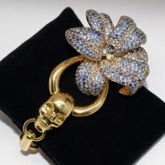 Gucci 18K Gucci Flower Skull Bracelet - 339628