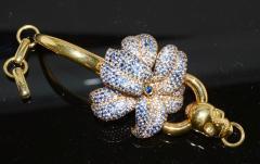 Gucci 18K Gucci Flower Skull Bracelet - 339629