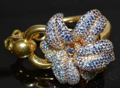 Gucci 18K Gucci Flower Skull Bracelet - 339637