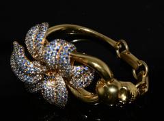 Gucci 18K Gucci Flower Skull Bracelet - 339640