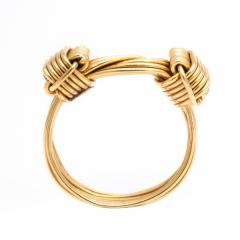 Gucci 1960s Gucci Gold Wirework Ring - 1222857