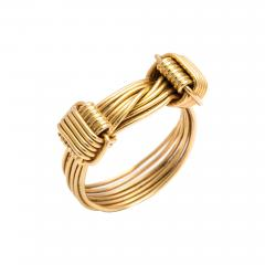 Gucci 1960s Gucci Gold Wirework Ring - 1222950
