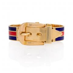 Gucci 1960s Gucci Gold and Enamel Bracelet Watch - 63258