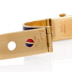 Gucci 1960s Gucci Gold and Enamel Bracelet Watch - 63260