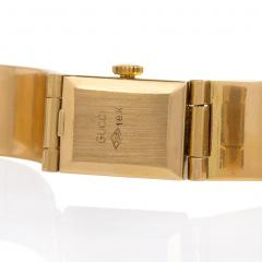 Gucci 1960s Gucci Gold and Enamel Bracelet Watch - 63261
