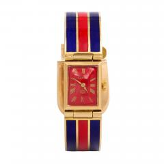 Gucci 1960s Gucci Gold and Enamel Bracelet Watch - 63293