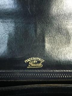 Gucci Dark Blue Gucci Double Shoulder Strap Bag - 209957