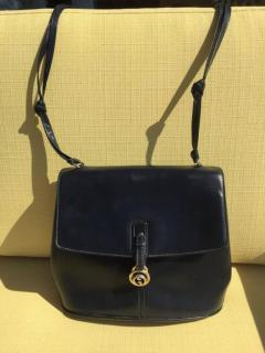 Gucci Dark Blue Gucci Double Shoulder Strap Bag - 209962