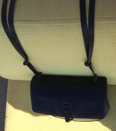 Gucci Dark Blue Gucci Double Shoulder Strap Bag - 209963