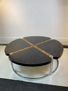 Gucci GUCCI STYLE MODERNIST STONE CHROME BRASS DESIGN COFFEE TABLE - 1381875
