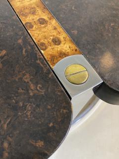 Gucci GUCCI STYLE MODERNIST STONE CHROME BRASS DESIGN COFFEE TABLE - 1381878
