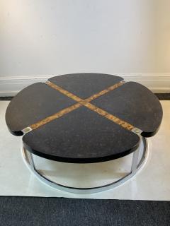 Gucci GUCCI STYLE MODERNIST STONE CHROME BRASS DESIGN COFFEE TABLE - 1381879