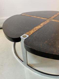 Gucci GUCCI STYLE MODERNIST STONE CHROME BRASS DESIGN COFFEE TABLE - 1381883