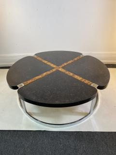 Gucci GUCCI STYLE MODERNIST STONE CHROME BRASS DESIGN COFFEE TABLE - 1381884