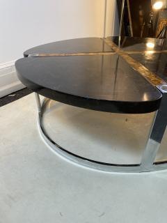 Gucci GUCCI STYLE MODERNIST STONE CHROME BRASS DESIGN COFFEE TABLE - 1381885