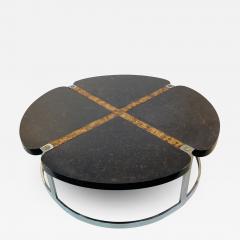 Gucci GUCCI STYLE MODERNIST STONE CHROME BRASS DESIGN COFFEE TABLE - 1385725