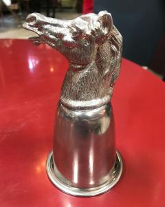Gucci GUCCI VINTAGE Silver Metal HORSE HEADS CUP Italy 1970s - 683668