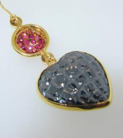 Gucci Gucci Gold and Ruby and Diamond Earrings - 1139765