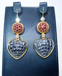 Gucci Gucci Gold and Ruby and Diamond Earrings - 1139767