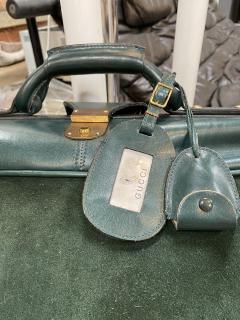 Gucci Gucci Vintage Blue Suede Medium Suitcase Travel Bag - 1527416