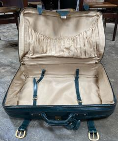 Gucci Gucci Vintage Blue Suede Medium Suitcase Travel Bag - 1527417