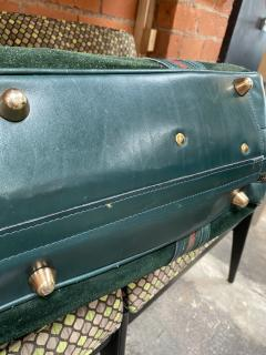 Gucci Gucci Vintage Blue Suede Medium Suitcase Travel Bag - 1527418
