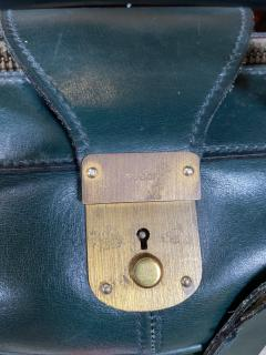 Gucci Gucci Vintage Blue Suede Medium Suitcase Travel Bag - 1527419