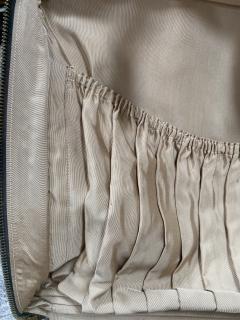Gucci Gucci Vintage Blue Suede Medium Suitcase Travel Bag - 1527420