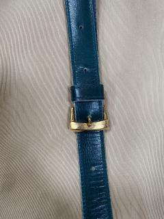 Gucci Gucci Vintage Blue Suede Medium Suitcase Travel Bag - 1527421