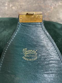 Gucci Gucci Vintage Blue Suede Medium Suitcase Travel Bag - 1527422