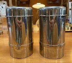 Gucci Pair of Two Gucci Silver Wine Ice Bucket Cooler Holder 1970s - 1549939
