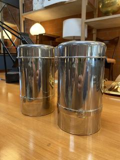 Gucci Pair of Two Gucci Silver Wine Ice Bucket Cooler Holder 1970s - 1549943