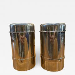 Gucci Pair of Two Gucci Silver Wine Ice Bucket Cooler Holder 1970s - 1551270