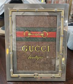 Gucci Vintage Gucci Silver and Gold Photo Frame 1970s - 1553598