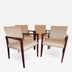 Gunlocke Four Midcentury American Made Armchairs by Gunlocke Co after Risom - 1881433