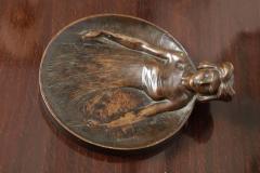 Gustav Gurschner Gustav Gurschner Bronze Figural Tray made in Austria - 463418