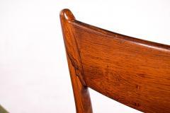 H P Hansen M belindustri Set of 6 Rosewood H P Hansen Dining Chairs for Randers - 1817814