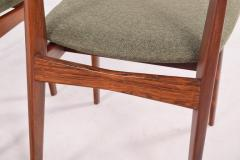 H P Hansen M belindustri Set of 6 Rosewood H P Hansen Dining Chairs for Randers - 1817817